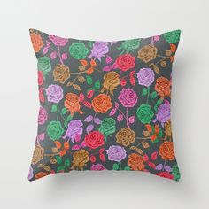 ROSES Throw Pillow by Bianca Green   Society6