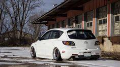Mazda Hatchback, Mazda 3 Hatch, Mazda Mps, Mazda 3 Sport, Air Ride, Import Cars, Sweet Cars, Car Wheels, Jdm Cars