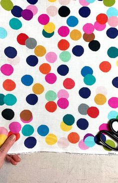 Blue//Pink//Black//White NEW 100/% Cotton Fabric Strawberry Spotted by the METRE