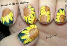 Sunflowers: http://enigmatic-rambles.blogspot.co.uk/2012/08/summer-nail-challenge-sunflowers.html  Enigmatic Rambles