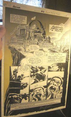 Original Comic Art ANIMA #7 SplashPage SIGNED 1994 Page1 Bruce Anderson DCcomics