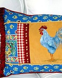 I like roosters.This is so fresh looking! Just might have to sew one of these!