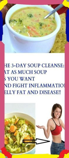 The 3-Day Soup Cleanse: Eat as much Soup as You Want and Fight Inflammation, Belly Fat, and Disease