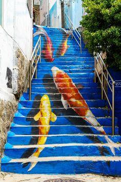 Fish Stairs, Naksan Park, Seoul, South Korea. #homesbyjohnburke #GTAHomes4U @GTAHomes4U #IMHOME