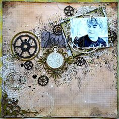 RACHAEL FUNNELL 2 Crafty Chipboard : March Layouts Including a VIDEO TUTORIAL