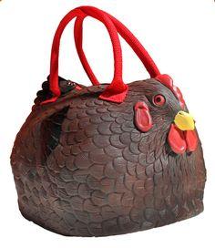 The Rubber Chicken Hen Purse Bag Handbag