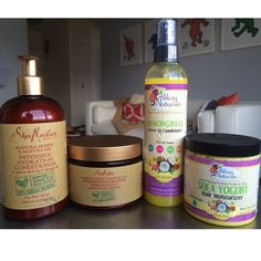 Shea Moisture recently released a Manuka Honey & Mafura line (as well as a Jamaican Black Castor Oil line) that I'm sincerely in love with.