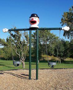 Old style playground equipment