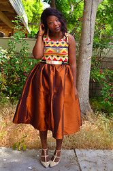 forever 21 african print orange - Google Search