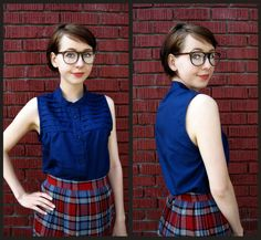 Cut down a huge old shirt into something new: a cute little sleeveless shirt.