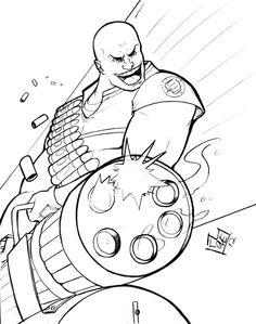 Heavy from Team Fortress by Comfort done at Anime Expo