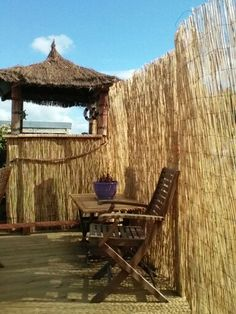 Day time picture of the Tiki Bar