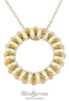 "QuadraLentil Bead Pendant ""Empress"" by Nichole Starman"