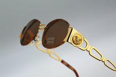 30e3a126d8a1a2 Gianni Versace Mod S34 Col 07 M   Vintage by CarettaVintage Vintage  Sunglasses, 90s Models