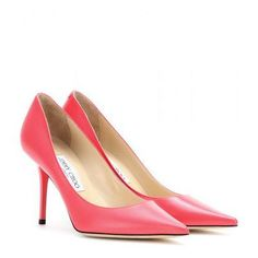 Jimmy Choo - Agnes leather pumps #shoes #jimmychoo #designer #covetme