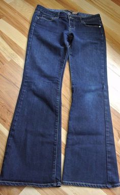 PAIGE Laurel Canyon PETITE Bootcut Flare Jeans Dark Wash Stretch Women's Size 29 #Paige #BootCut