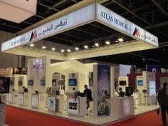 Atlas Medical exhibition stand by Focusdirect Exhibitions Arab Health Dubai 2014
