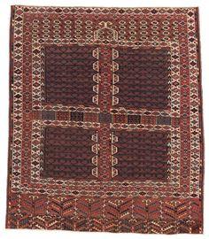 Yomud Ensi   156 x 133 cm (5ft. 1in. x 4ft. 4in.) Turkmenistan second half 19th century