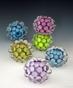 LilianaBead Berry Extraordinaire Collection These ones were created with Bullseye glass.