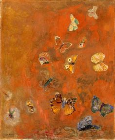 artemisdreaming:    Evocation of Butterflies, 1911  Odilon Redon  Detail  .
