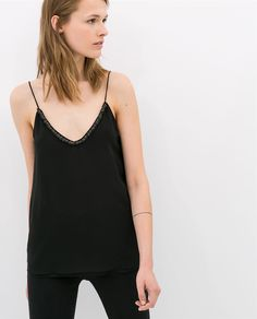 ZARA - NEW THIS WEEK - LINGERIE-STYLE TOP
