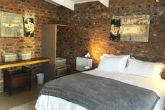 Ridge Rd Cottage - Clarens Accommodation. Queen Room, Queen Beds, Pond Covers, Aluminium Sliding Doors, Bedroom With Bath, Pet Friendly Accommodation, Free State, Wrought Iron Gates, Bespoke Kitchens