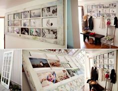 How To Transform An Old Door Into A Photo Frame