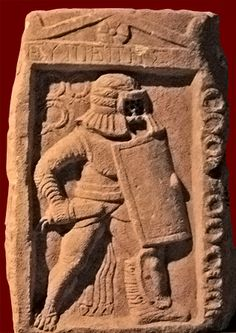 Tombstone of a Provocator gladiator, Roman, from the gladiator graveyard in Ephesus, second-third century CE. The wreaths indicate his victories. Selçuk, Turkey, Ephesus Archaeological Museum. The extent of his armor made the Provocator slower and less agile than other gladiators, which may explain why he tended to be paired with another gladiator of the same type in combat.