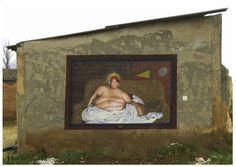 AMPPARITO  .. 'Background of Saint Cristiano' ..  [Bolaños de Campos, Spain 2012] Cristiano, Urban Art, Street Art, Spanish, World, Painting, Design, Fields, City Art
