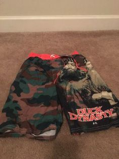 Duck Dynasty Boys Lined Swim Shorts Trunks Sz 8 Multicolor Clothes NWT