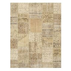 Meridian Rugmakers Nasirabad Hand-Knotted Beige Area Rug