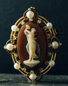 1870 Cameo with Pearls, French