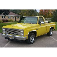 This 1984 GMC is Brian Geever's third Sierra and the oldest. He says his current daily driver a 2011 is jealous because it lost its garage space to the new toy. #gmctruck #gmctruck #gmcsierra #gmc #sierra #oldtruck #classictruck #squarebody #yellowtruck #trucklife #lmctruck