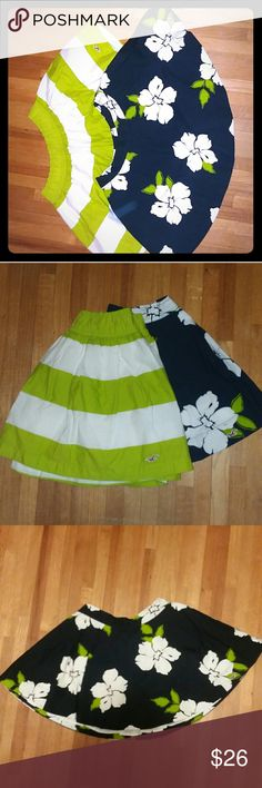 Hollister bundle of knee-high skirts 100% cotton soft to the touch skirts Hollister Skirts A-Line or Full