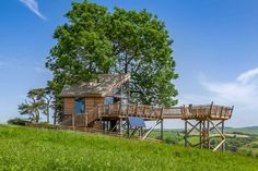 13 Amazing Treehouse Holidays With a Hot Tub in the UK [2021] Brook House, Canopy And Stars, Hot Tub Deck, House Built, Back To Nature, Landscape Photographers, Staycation, Outdoor Gardens, Wales