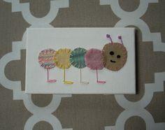 Baby Caterpillar #6 Fabric Wall Art by CottonwoodCove on Etsy