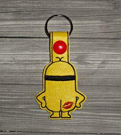 Kiss My A$$ Minion Keychain ITH Embroidery Design   Uncle Matt's Crib