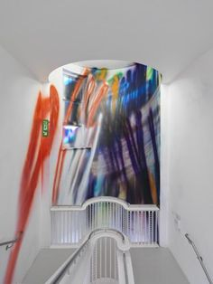 untitled / 2011 / acrylic on wall and window / St. Ives / interior