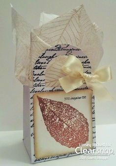Linsey Ricket shares how to make a gorgeous stamped gift box with coordinating tissue paper all using Colorbox Metallic Pigment ink, Rollagraph, and stamps! | Clearsnap Blog