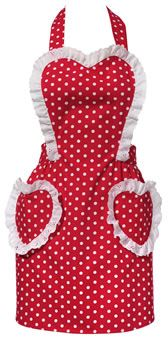 Sweetheart Red Vintage Apron