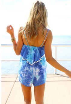 blue and white fashion