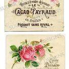 الورد الوردي الشوكولاته خمر تسميات .JPG طباعة الموضوع أرسل الصور الرقمية الكولاج ورقة رقم 297. $ 1،00، عبر و Etsy.