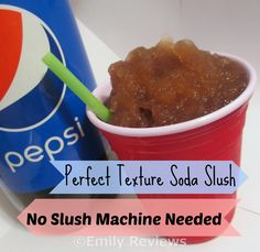 How to make a 7-11 slurpee at home, no slushy machine needed.