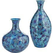 Blue Mosaic Vases