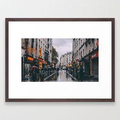 Paris Streets Art - Framed Giclée Print on Cotton Rag Paper - Lamborn Studio