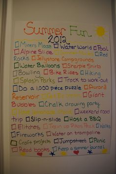 Summer Bucket List~ 2012