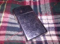 Vintage 1978 Mini Slim Zippo Lighter Plain Silver Steel Great Conditio