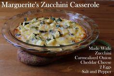 Marguerite's Zucchini Casserole (gluten-free & grain-free)