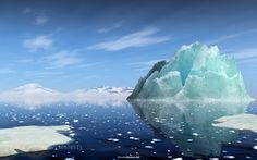 The iceberg by maxmitzu  3d antarctica blue clouds cold ice iceberg mountains ocean sea sky snow water winter The iceberg max