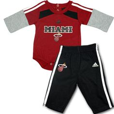 Your little guy will love this Miami Heat outfit for babies. #miamiheat